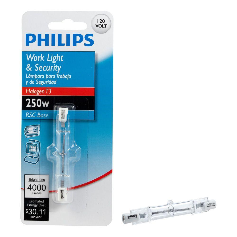 250-Watt T3 Halogen 120-Volt Clear Light Bulb