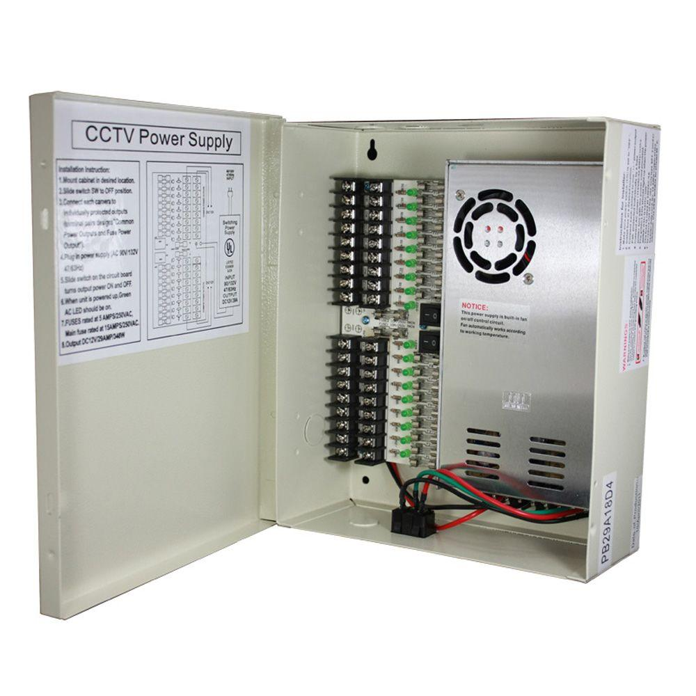 18-Port CCTV Power Box-15-PB29A18D4 - The Home Depot