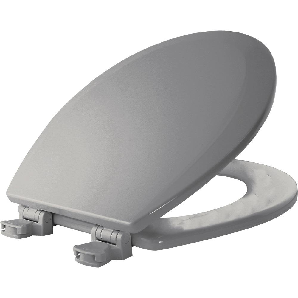 Lift-Off Round Closed Front Toilet Seat in Ice Gray