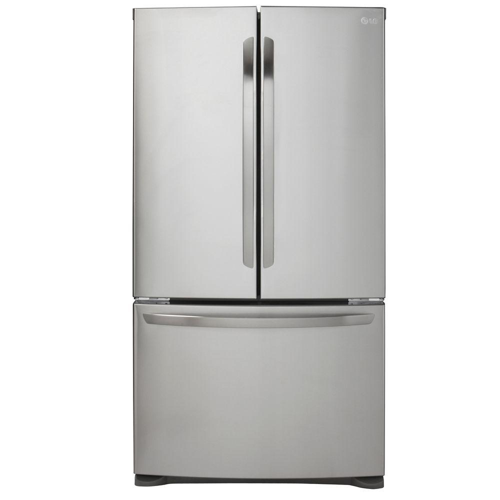 Bon French Door Refrigerator In Stainless Steel, Counter Depth