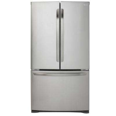 20.9 cu. ft. French Door Refrigerator in Stainless Steel, Counter Depth