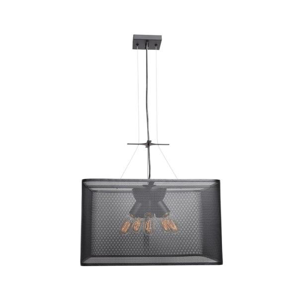 Epic 15 in. H 5-Light Black Pendant