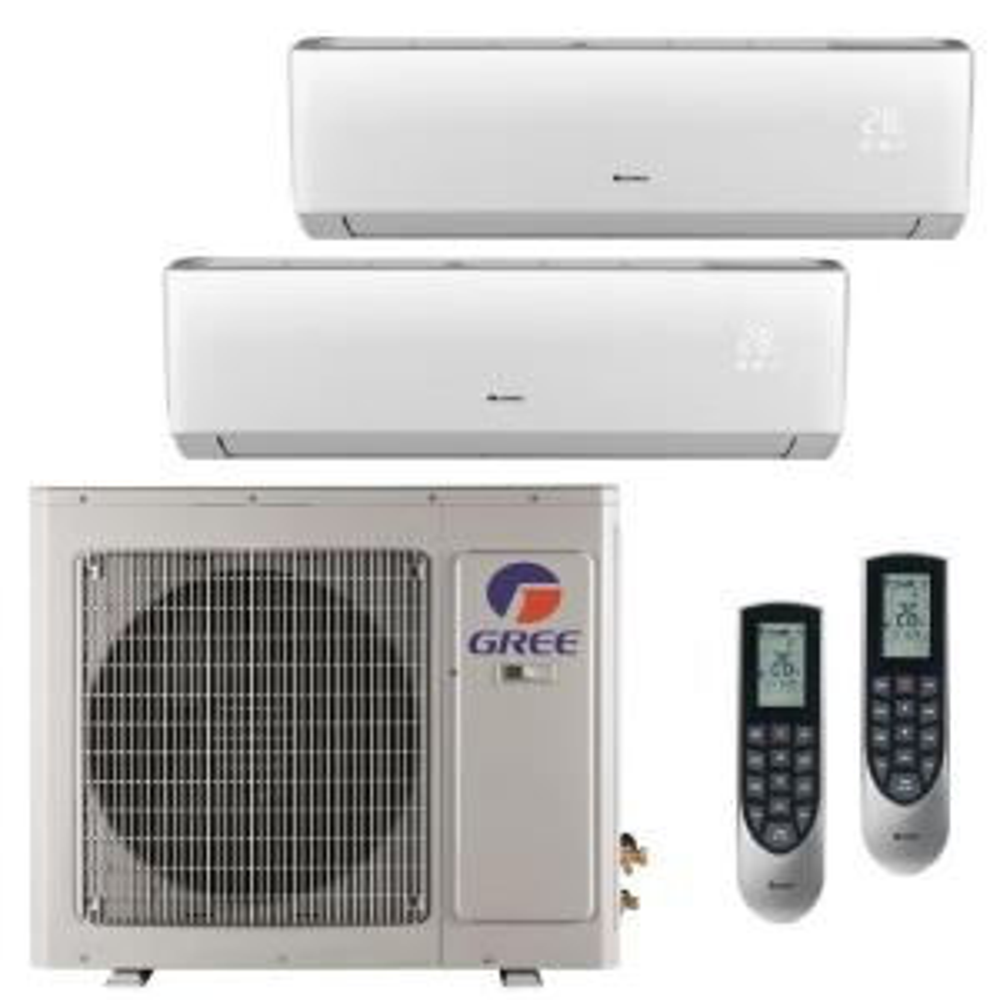 GREE Multi-21 Zone 24,000 BTU 2 Ton Ductless Mini Split Air Conditioner with Heat, Inverter, Remote - 208-230-Volt/60Hz by GREE
