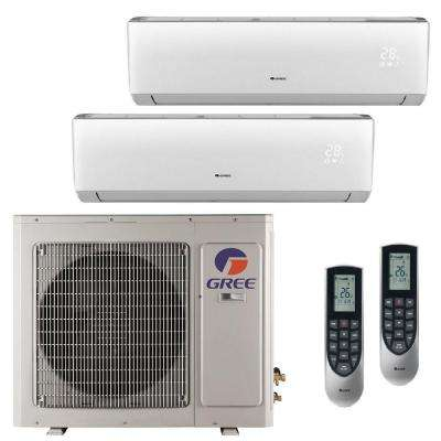 Multi-21 Zone 24,000 BTU 2 Ton Ductless Mini Split Air Conditioner with Heat, Inverter, Remote - 208-230-Volt/60Hz
