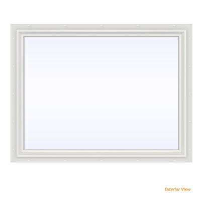 47.5 in. x 35.5 in. V-2500 Series White Vinyl Picture Window w/ Low-E 366 Glass