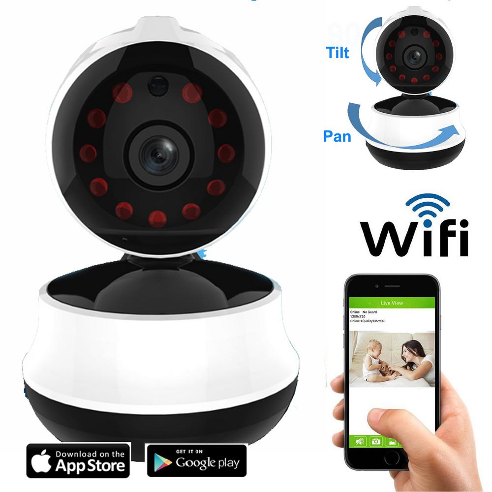 Wireless HD 720p Wi-Fi Pan and Tilt Standard Surveillance Camera with
