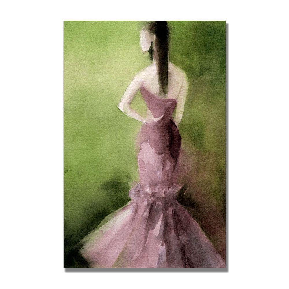 Trademark Fine Art 22 in. x 32 in. Mauve Evening Gown Canvas Art-DISCONTINUED