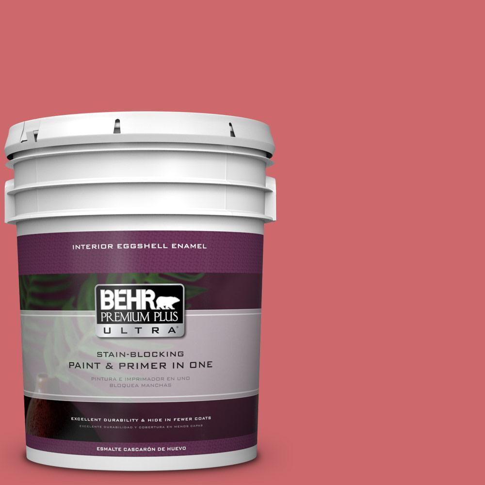 5 gal. #MQ4-2 Strawberry Wine Eggshell Enamel Interior Paint and Primer