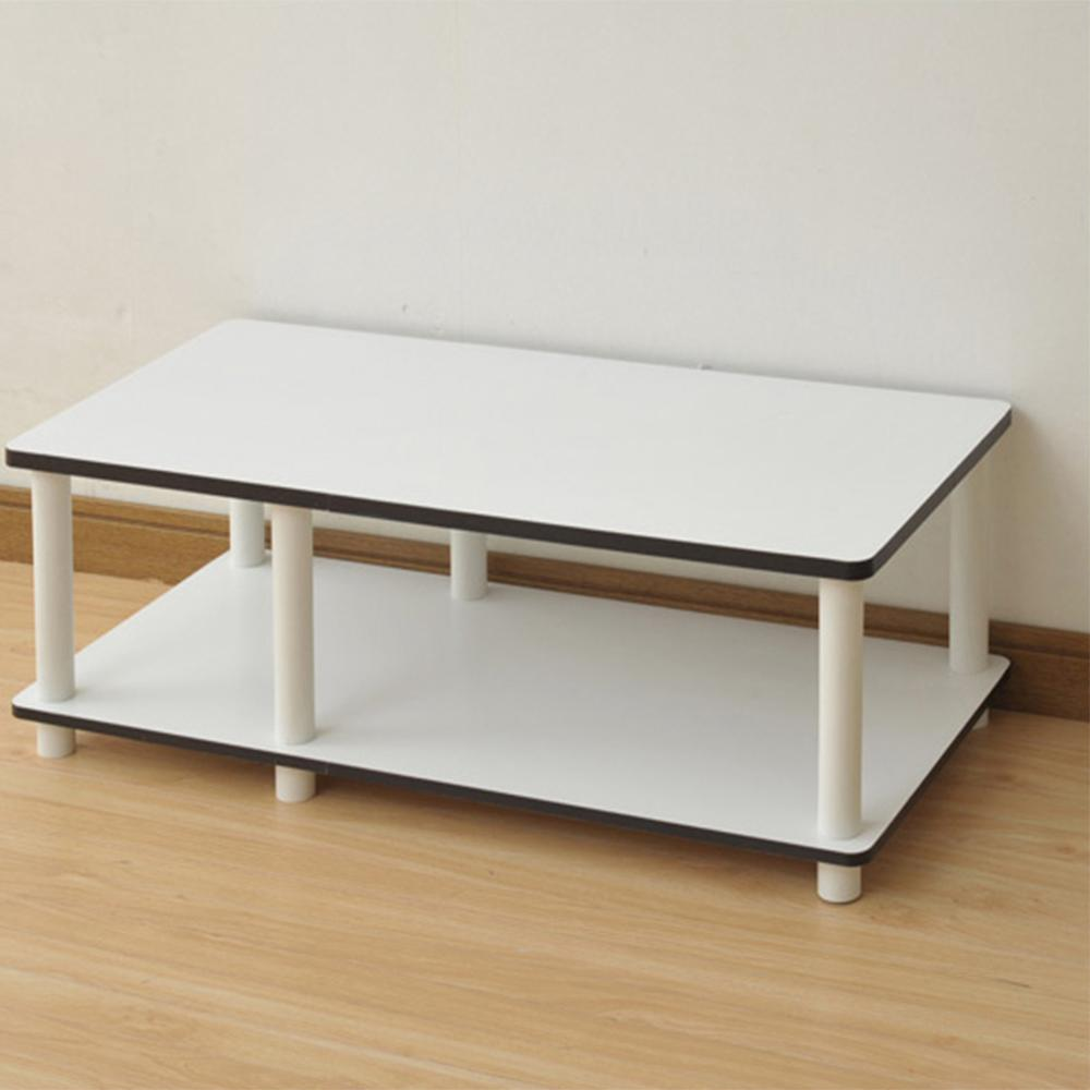 Just No Tools White Television Stand