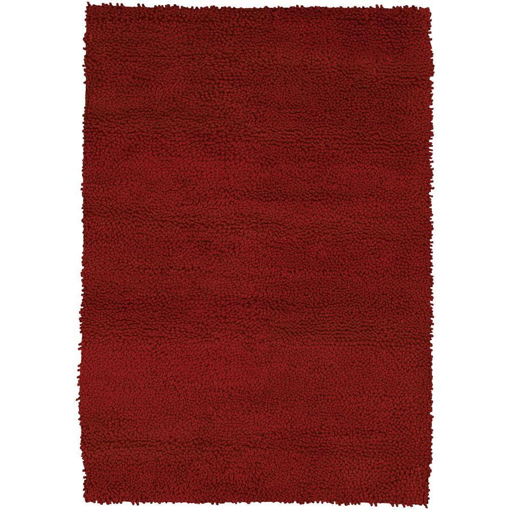 Strata Deep Red 9 ft. x 13 ft. Indoor Area Rug