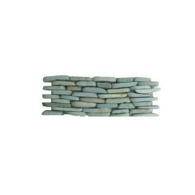 Standing Pebbles Cypress 4 in. x 12 in. x 15.87 Natural Stone Pebble Mesh-Mounted Mosaic Wall Tile (5 sq. ft. / case)