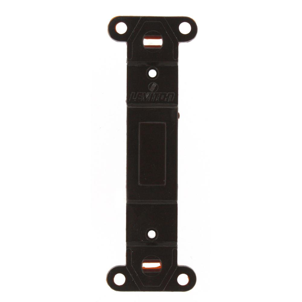 Plastic Wallplate Adapter; Blank Toggle No Hole, Brown