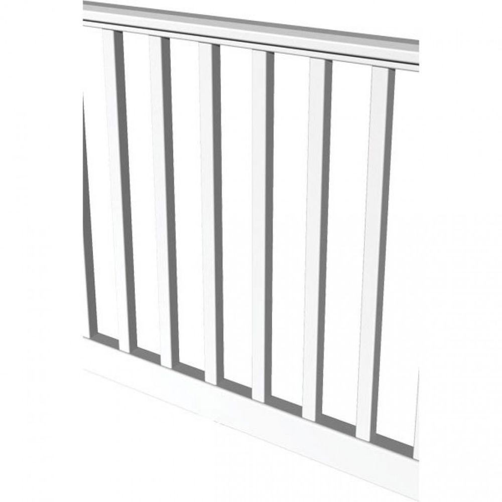 RDI Original Rail 10 ft. x 36 in. White Vinyl Square Baluster Level Rail Kit