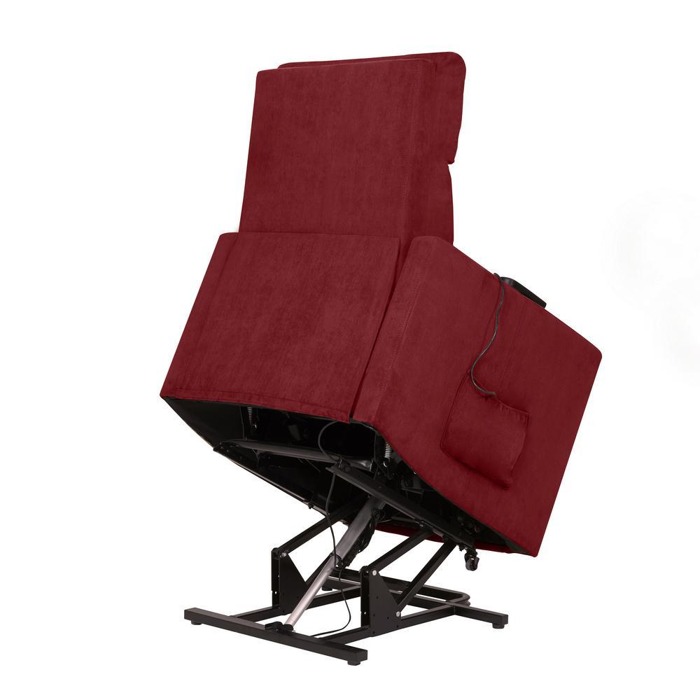 Superb Prolounger Prolounger Crimson Red Microfiber Power Lift Dailytribune Chair Design For Home Dailytribuneorg