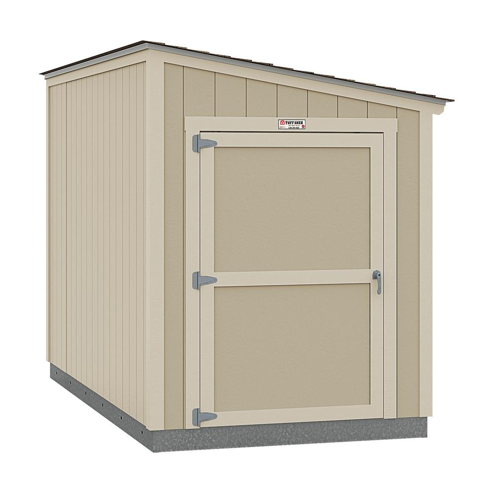 Tuff Shed Installed Tahoe Lean-To 6 ft. x 12 ft. x 8 ft. 3 in. Un-Painted Storage Building Shed with Shingles and End Wall Door