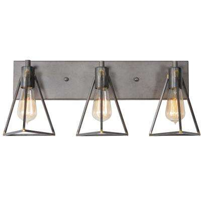 Trini 3-Light Gunsmoke Bath Light
