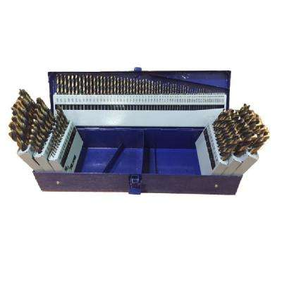 Heavy Duty High Speed Steel Jobber Drill Bit Set (115-Pieces)