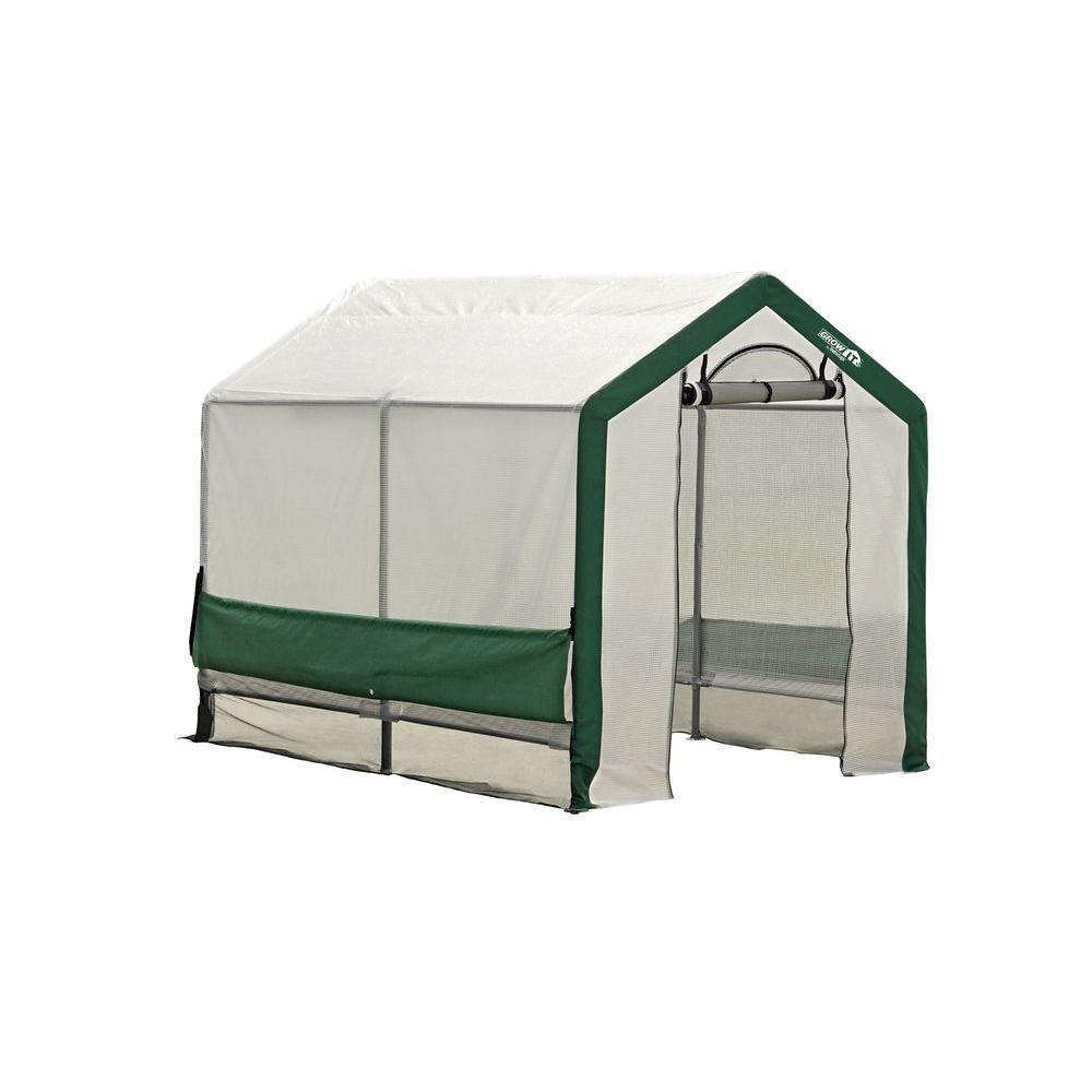 ShelterLogic Grow-It Organic Growers Decorative 6 ft. x 8 ft. x 6 ft. 6 in. Peak-Style Greenhouse