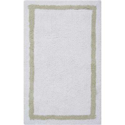 Plush Sage 1 ft. 9 in. x 2 ft. 10 in. Bath Rug