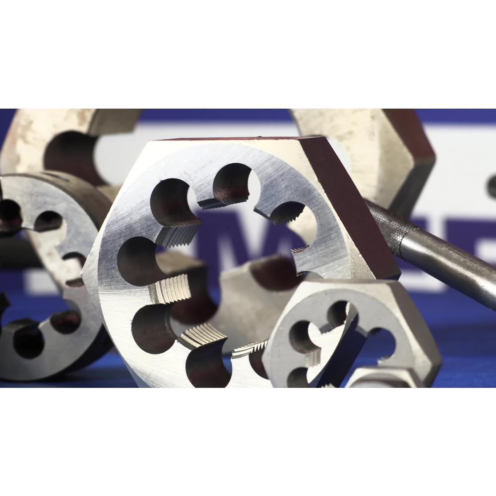 Drill America m14 X 1.75 Carbon Steel Hex Rethreading Die DWT Series