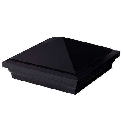 Symmetry 5 in. x 5 in. Serene Black Acrylic Pyramid Cap