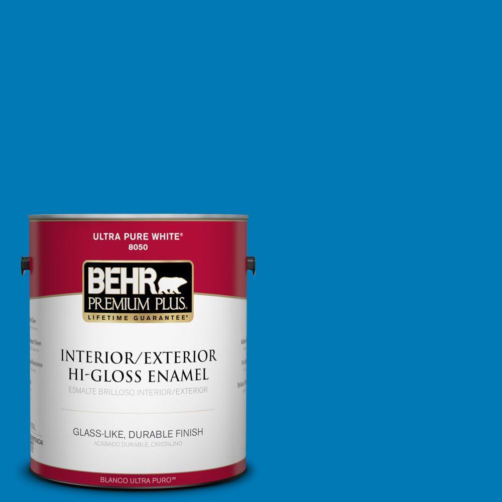 1-gal. #P500-6 Deep River Hi-Gloss Enamel Interior/Exterior Paint
