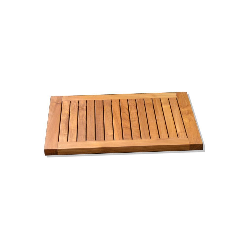 Teak Wood Indoor and Outdoor Shower Mat