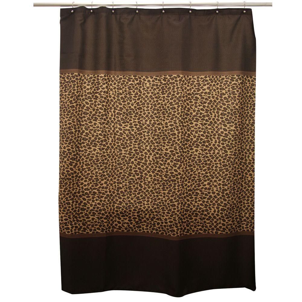 Leopard Brown Shower Curtain