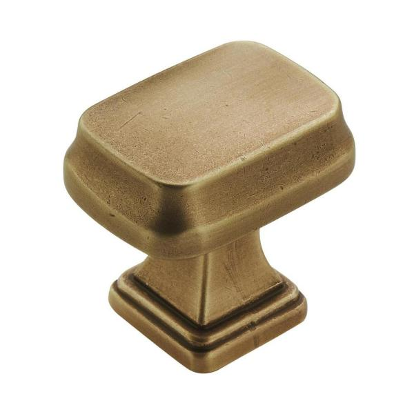 Revitalize 1-1/4 in (32 mm) Length Gilded Bronze Cabinet Knob