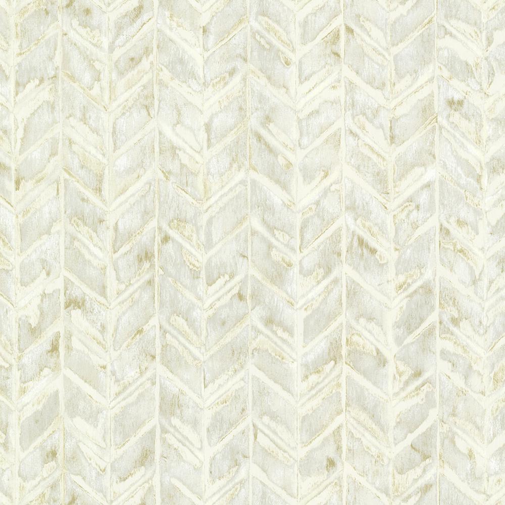Cream Foothills Herringbone Texture Wallpaper