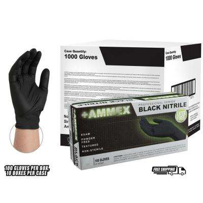 Black Nitrile Exam Latex Free Disposable Gloves (Case of 1000)