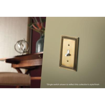 Brass 2-Gang Duplex Outlet Wall Plate (1-Pack)