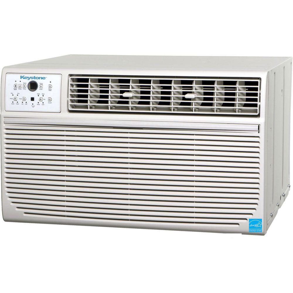 Keystone 12,000 BTU 115-Volt Through-the-Wall Air Conditioner with Follow Me LCD Remote Control-DISCONTINUED