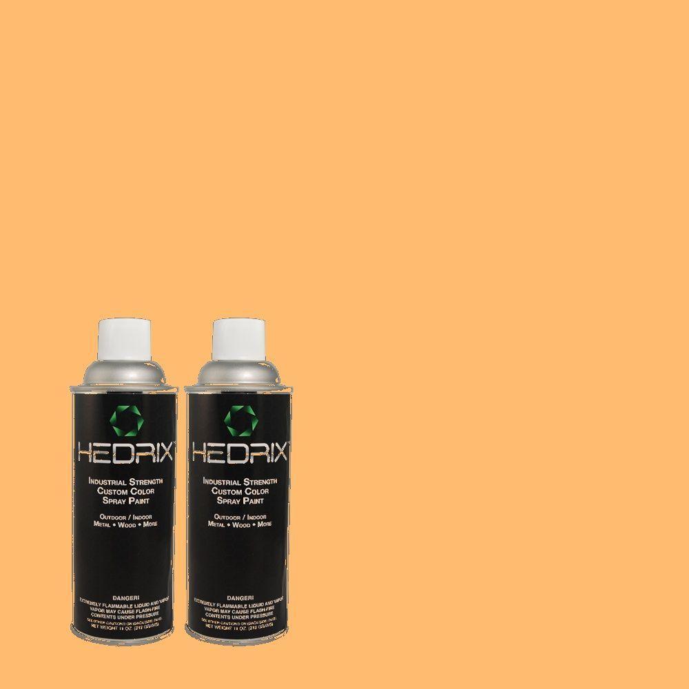 Hedrix 11 oz. Match of PPH-21 Ripe Peach Gloss Custom Spray Paint (2-Pack)