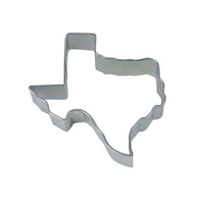 12-Piece Texas State 3.5 in.  Tinplated Steel Cookie Cutter & Recipe