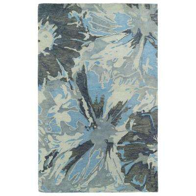 Brushstrokes Grey 10 ft. x 13 ft. Area Rug
