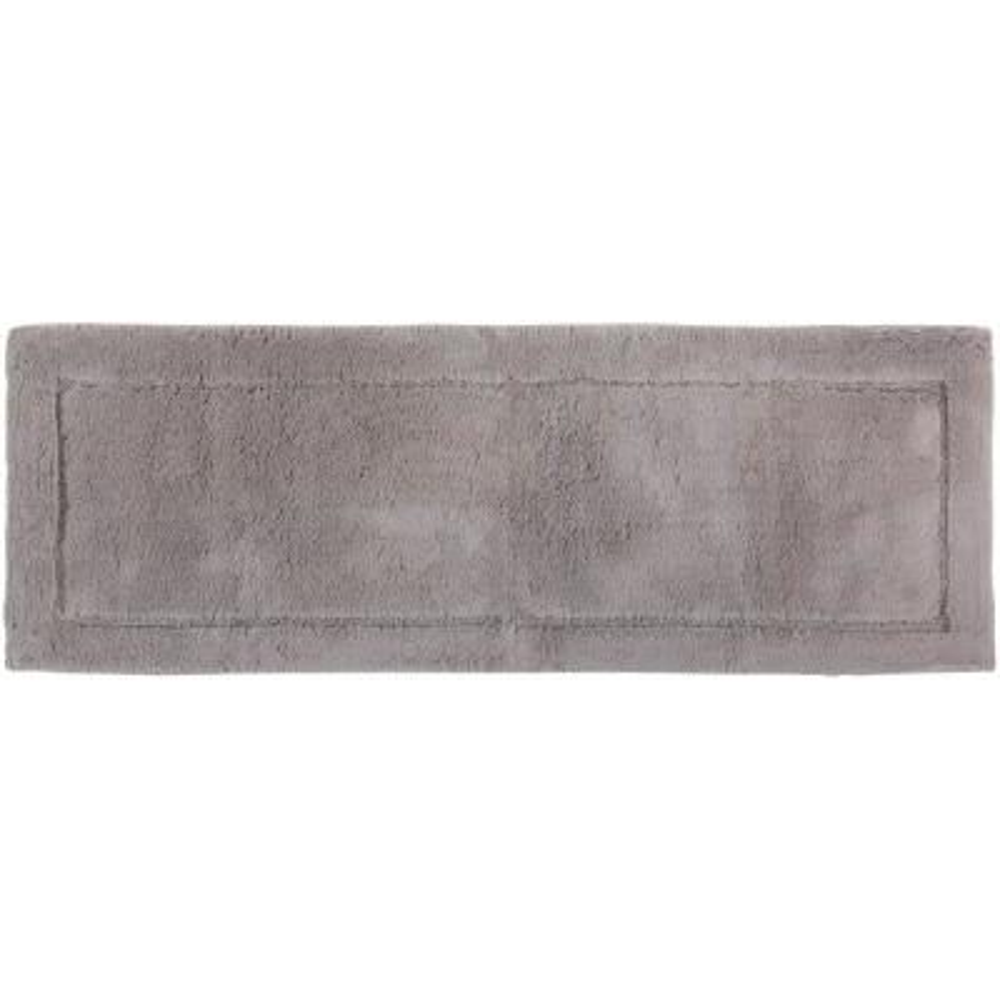 Regency Grey 1 ft. 9 in. x 2 ft. 10 in. Cotton Bath Rug