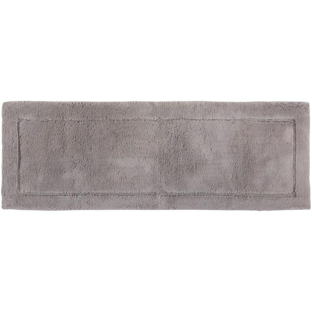 Regency Grey 1 ft. 9 in. x 5 ft. Cotton Runner Bath Rug