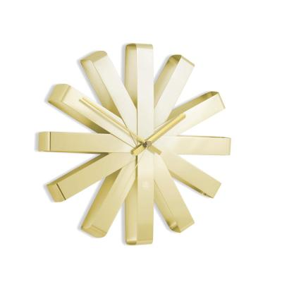Ribbon Wall Clock 12In Brass
