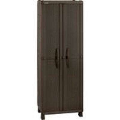 71.7 in. H x 25.6 in. W Resin Rattan Utility Cabinet