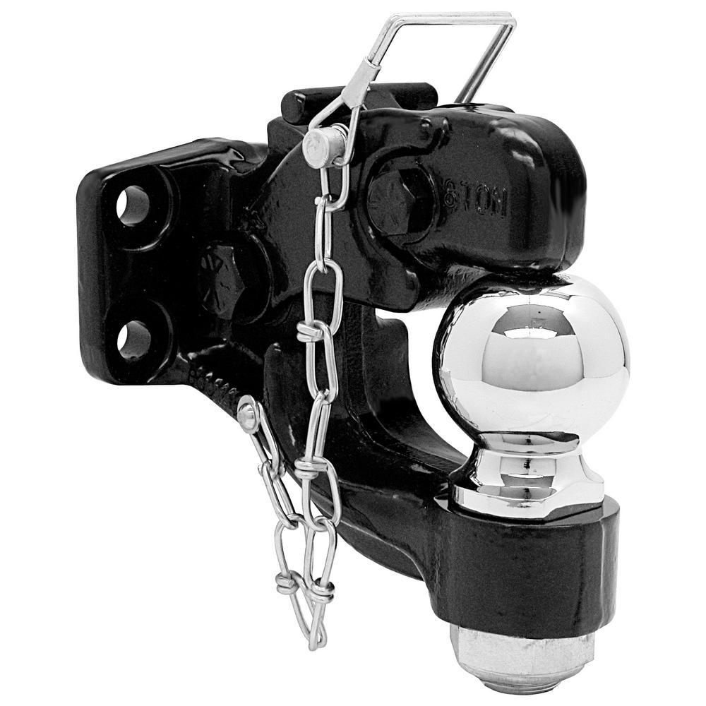 8-Ton Combination Ball and Pintle Hitch with Mounting Kit
