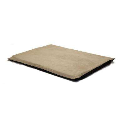 2 in. Large Suede Clay Orthopedic Foam Pet Bed