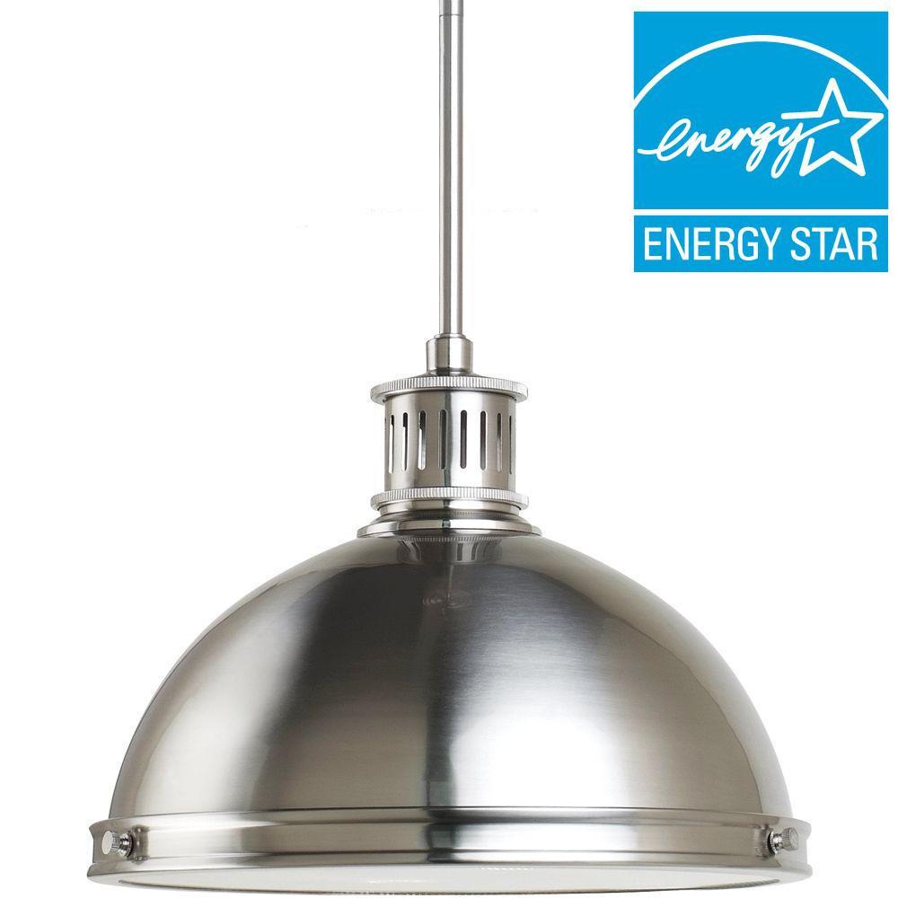 Sea Gull Lighting Pratt Street Metal 2-Light Brushed Nickel Pendant
