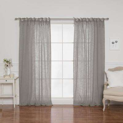 84 in. L Cotton Gauze Curtains in Grey (2-Pack)
