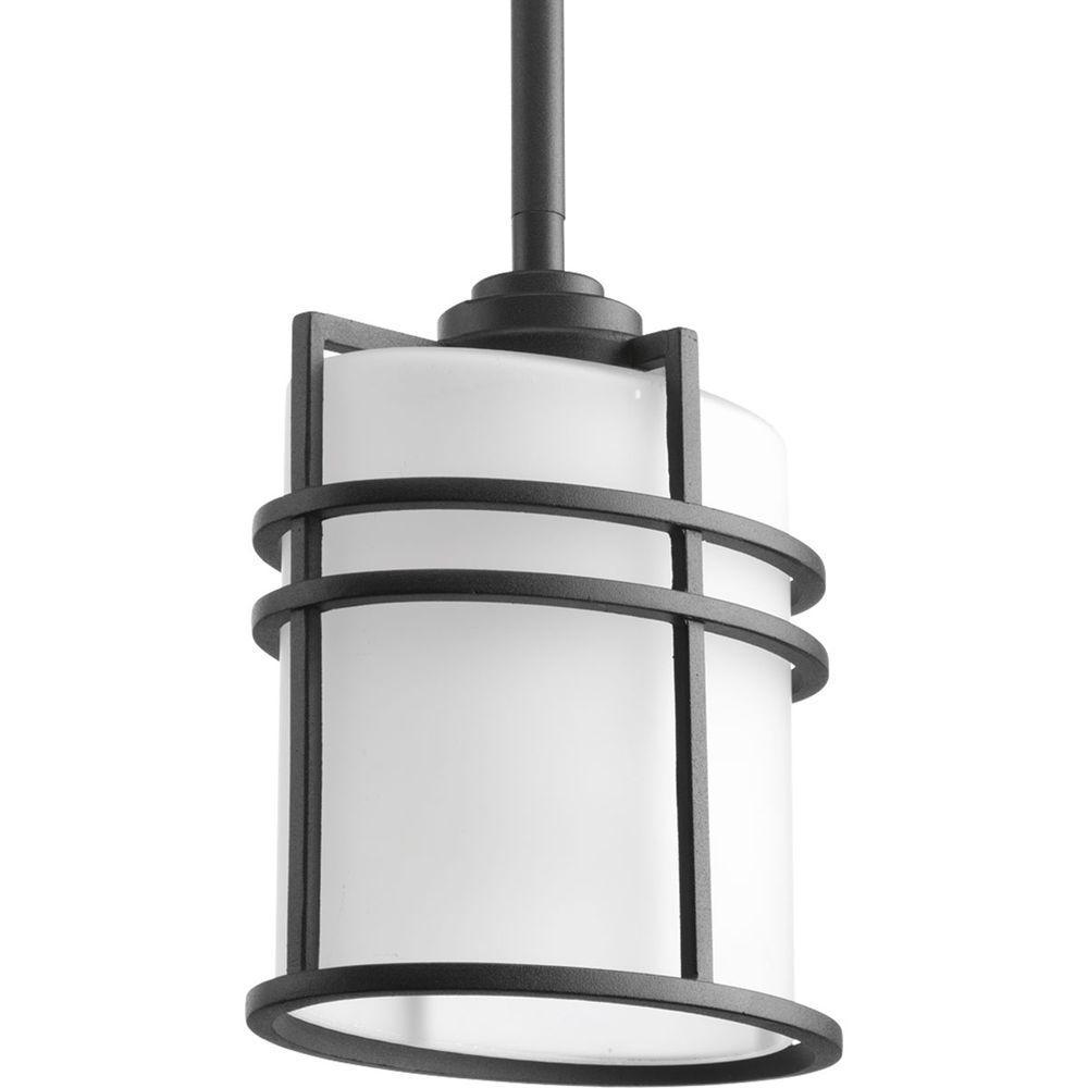 Progress Lighting Format Collection 1-Light 5.875 in. Black Outdoor Hanging Lantern