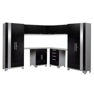 Performance 2.0 72 in. H x 177 in. W x 18 in. D Garage Cabinet Set in Black (12-Piece)