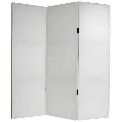 4 ft. White Do It Yourself Canvas 3-Panel Room Divider
