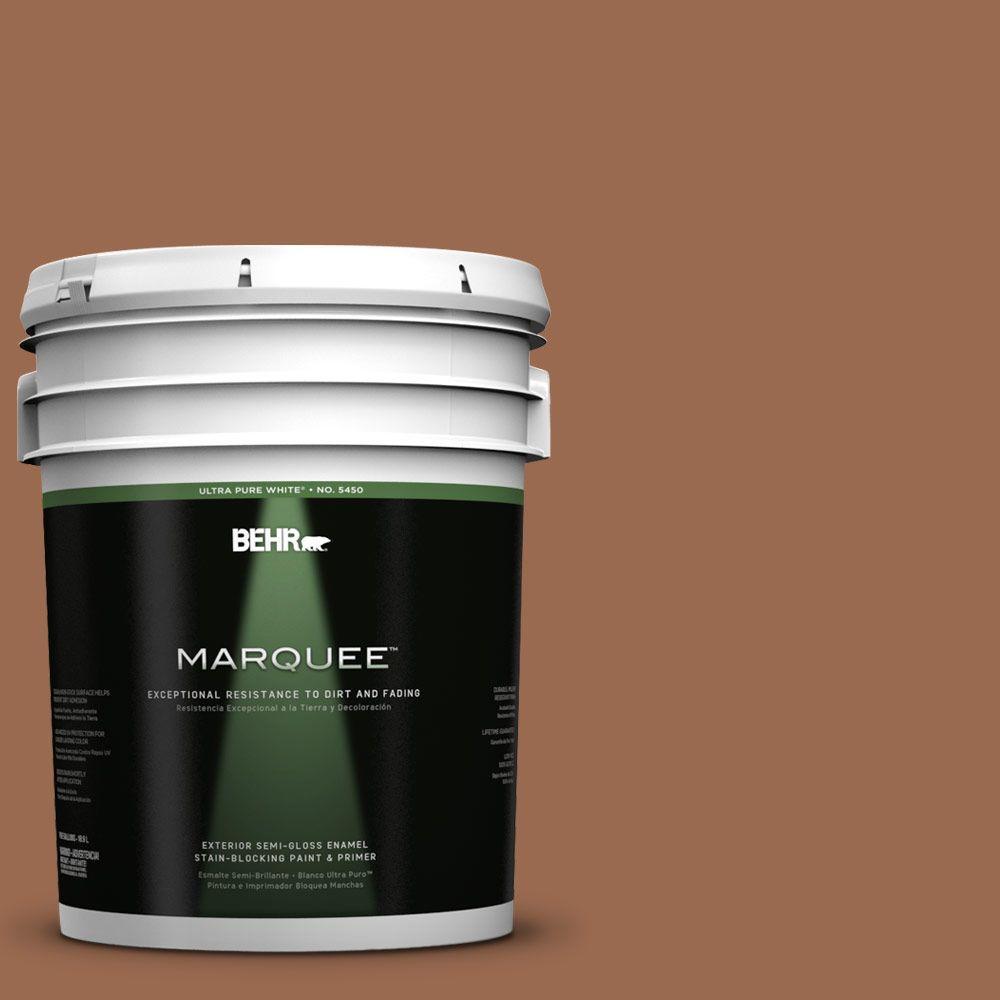 5-gal. #PMD-88 Sorrel Brown Semi-Gloss Enamel Exterior Paint