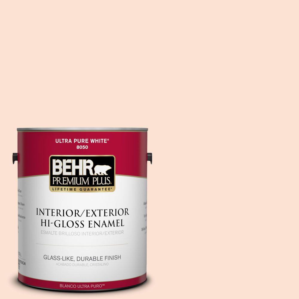 1-gal. #220A-1 Powdered Peach Hi-Gloss Enamel Interior/Exterior Paint