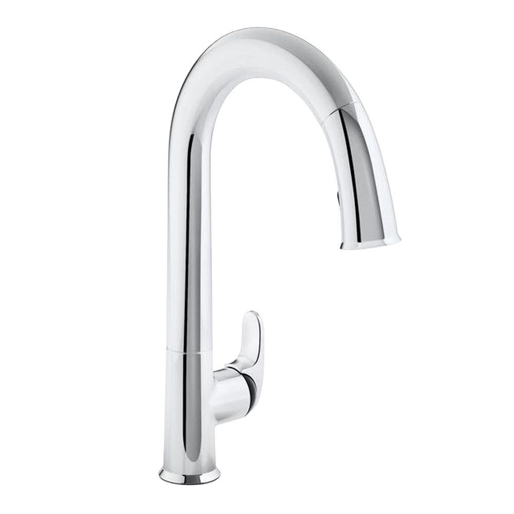 Pull Down Kitchen Faucet With Volume Control